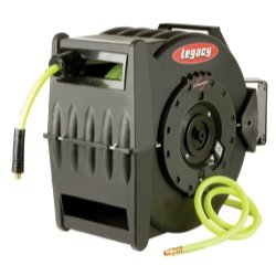 Legacy Manufacturing Levelwind Retractable Hose Reel for Air with 1/2'' I.D. x 50' Flexzilla Hose