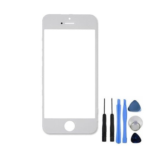 BisLinks® New Front Outer Screen Lens Glass Replacement + Tools for iPhone 5 5C 5S White