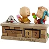 """Hallmark Peanuts """"This Could Be A Sweet Day"""" Perpetual Calendar Figurine"""