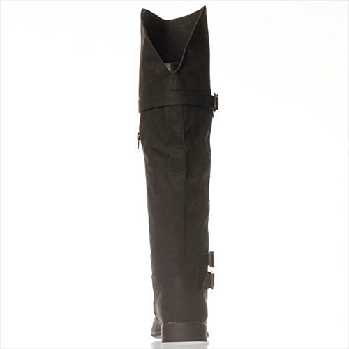 Justfab Gewoon Fab Dames Aysling Brede Gesloten Teen Mid-kalf Mode Laarzen Zwart