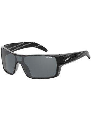 Arnette Shore House Round Sunglasses,Striped Grey Havana/Grey,55 mm