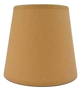 handgemacht aus Baumwollgewebe Wandleuchte Kleiner gelber Lampenschirm zum Aufstecken Kronleuchter