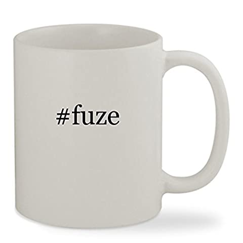 #fuze - 11oz Hashtag White Sturdy Ceramic Coffee Cup Mug (Fuze Peach Mango)