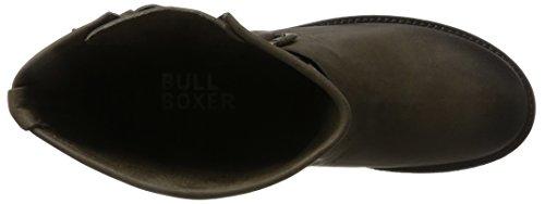 Bullboxer 427502e6l - Botas Estilo Motero Mujer Marrón (Dark Brown)