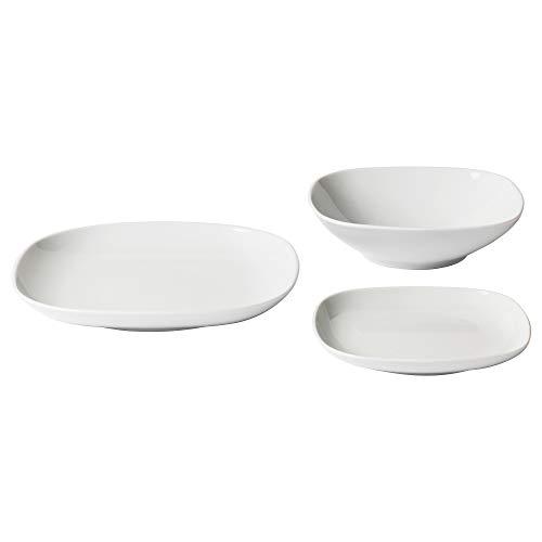 IKEA 702.773.54 Värdera 18-Piece Dinnerware Set, White