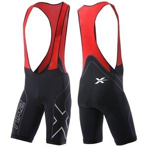 2XU Men's Compression Cycle Bib Shorts, Black/Red, X-Large (2xu Compression Cycle Short)