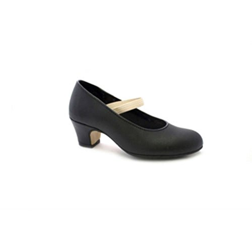 Zapato Baile de Tacón para Niña y Señora Carolina Guillo en Negro Talla 21 eywisPE