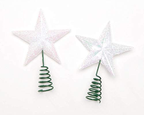 Miniature Fairy Garden White Glittery Star Tree Topper Darice 2444-05