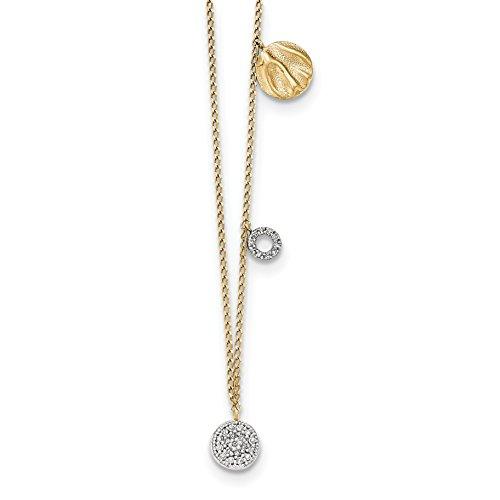 Diamond Shamrock Pendant (ICE CARATS 14k Yellow Gold Diamond Two Circle Shamrock Chain Necklace Fine Jewelry Gift Set For Women Heart)