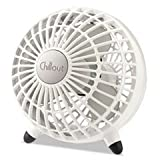 ** Chillout USB/AC Adapter Personal Fan, White, 6''Diameter, 1 Speed