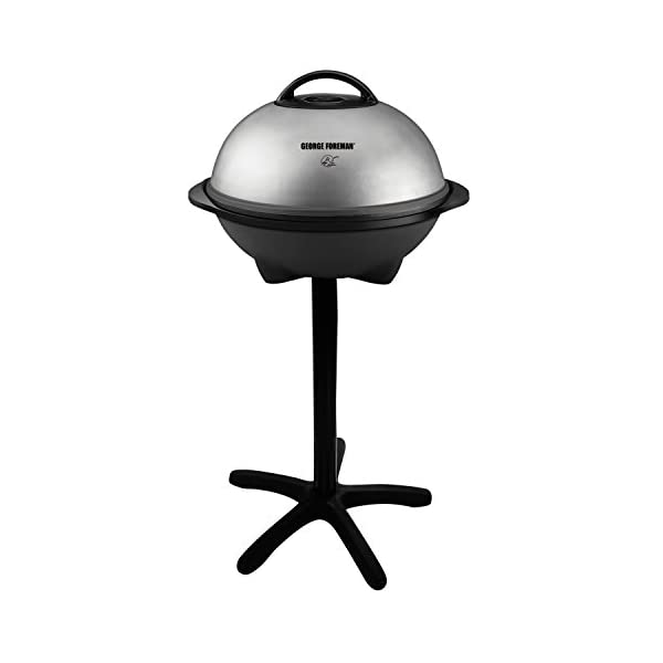 George Foreman 15-Serving Indoor/Outdoor Electric Grill, Silver 31 JePuIRML