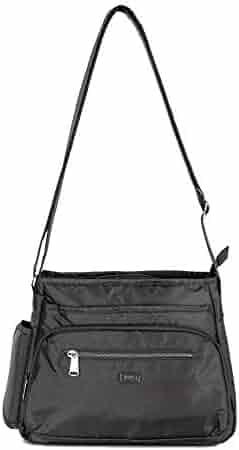 bd9b989a8 Lug Women's Shimmy 2 Crossbody Bag, Flamingo Black Cross Body, One Size