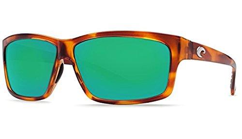 Costa Cut Sunglasses Honey Tortoise / Green Mirror Glass 580G & Neoprene Classic - Costa Cut 580g