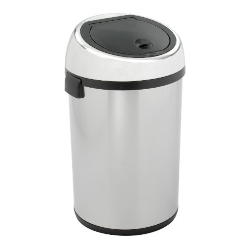 Safco Model Kazaam Can, Stainless Steel, 17 Gallons (9763) - Kazaam Receptacle