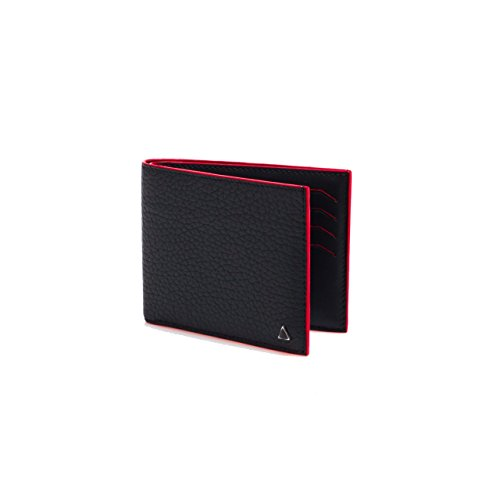 Made in FRANCE Tourny Luxury Wallet in Black Taurillon by ANONYME PARIS