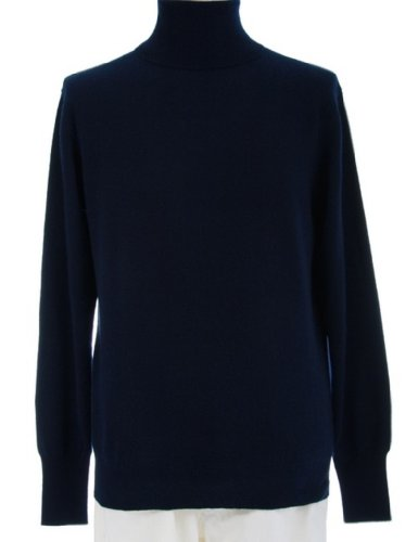 4 Ply Shephe Men's Turtleneck Cashmere Sweater Navy Medium by Shephe