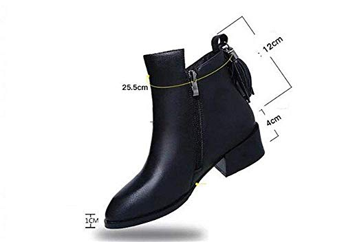 Scarpe nero Nere Heel Zipper Eu Boots Eu Nere 37 Short 35 And Tips Ladies Deed Stick Oqafx8xA