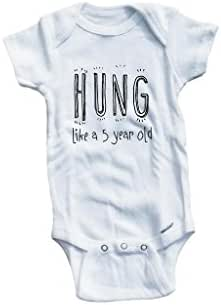 Baby Tee Time Boys' Hung Like a 5 Year Old Funny One Piece