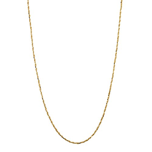 14k Yellow Gold Tornado-Link Chain Necklace 24