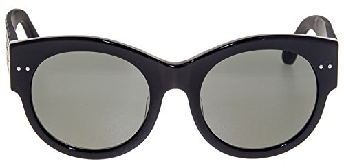 BOTTEGA VENETA INTRECCIATO Leather BV0057SK Black Sunglasses 0057K 0008