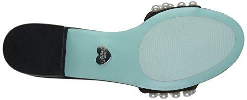 Bleu Par Betsey Johnson Femmes Sb-coquelicot Sandale Slide Satin Noir