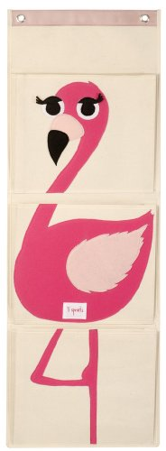 3 Sprouts Wall Organizer, Flamingo For Sale
