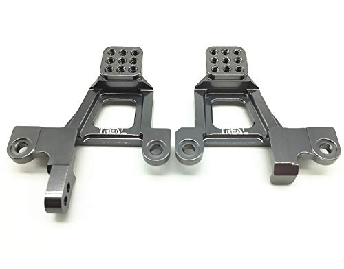 Tower Shock Alloy - Treal Alloy Front Shock Towers (Left and Right) for Traxxas TRX-4 Crawler RC Car - Gray