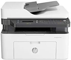 HP Laser MFP 137fnw - Impresora láser multifunción (imprime, copia y escanea, 20 ppm, LED, USB 2.0 de alta velocidad, FAX, WiFi, Ethernet), blanco
