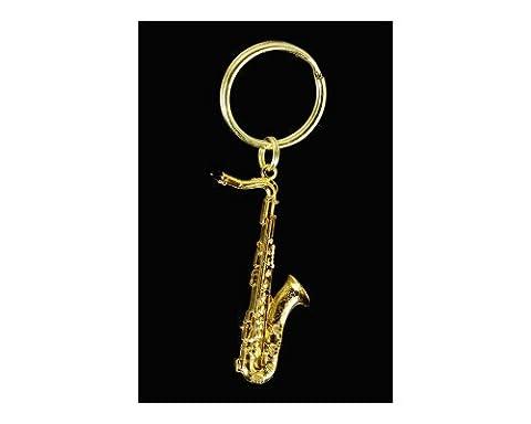 Harmony Jewelry Tenor Sax Key Chain, Gold (Marshall 1959 Super Lead)