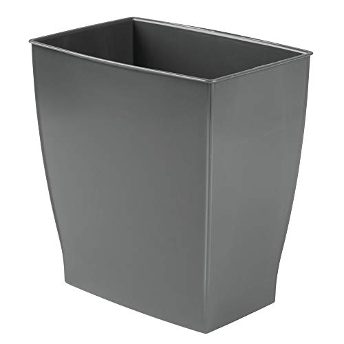 - mDesign Wastebasket Trash Can - Rectangular, Slate