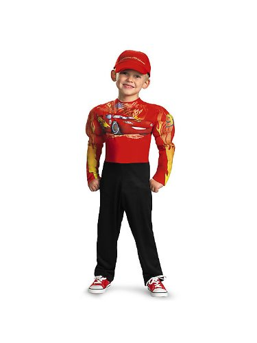Lightning McQueen Muscle Classic Child Costume - Child 4-6 - Lightning Mcqueen Classic Muscle Kids Costumes