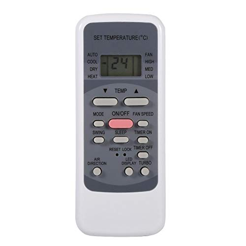 Tangxi Universal AC Remote Control for Midea R51 Series Air Conditioners with Digital LCD Screen,Multifunctional Codes List,10m Remote Control,White (Universal Air Conditioner Remote Control Codes List)