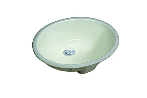 (CHANGIE 1602B Oval Undercounter Bathroom Ceramic Sink,Biscuit,16 x 13 inches)