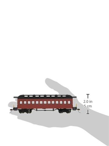 Bachmann 1860-1880 Passenger Car-Coach-Painted Hobby Train, Prototypical Red