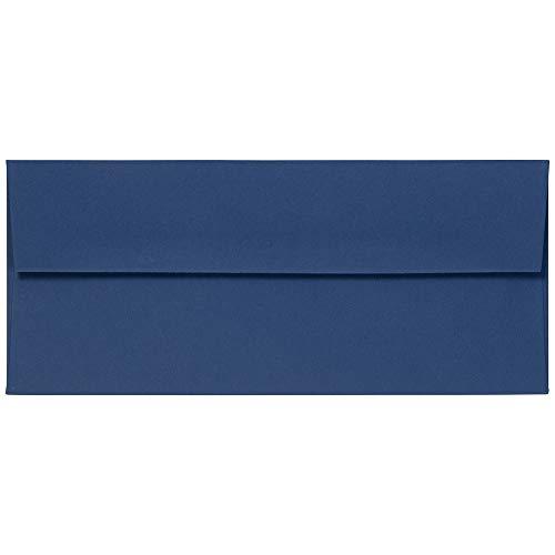 JAM PAPER #10 Business Premium Envelopes - 4 1/8 x 9 1/2 - Presidential Blue - 50/Pack