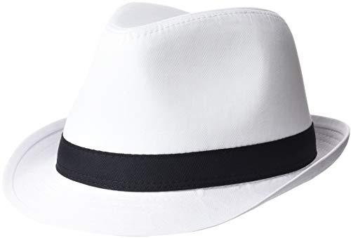 - Beechfield Unisex Fedora Hat (L/XL) (White/Black)