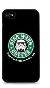 Storm Trooper Starbucks Apple iPhone 5 Hardshell Case - Black -715
