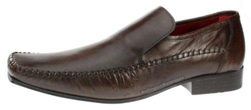 Red Tape Whittle Chaussures en cuir Homme - Marron - marron, 41.5 (8 UK)