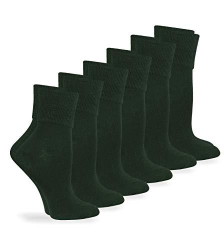 Jefferies Socks Womens Smooth Seamless Turn Cuff Dress Work Casual Socks 6 Pair Pack