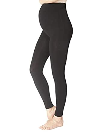 Seraphine Tammy Overbump Bamboo Active Maternity Leggings - Black - Small/Medium