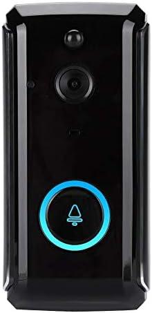 ドアベル、ドアベル、スマートホームセキュリティワイヤレスWiFi HDスマートカメラドアベルIR可視インターホンドアホン