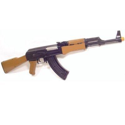 Ak47 Airsoft Gun Ak-47 Full Automatic Electric AEG Rifle Gun w/ Mag Capacity 250 BBs