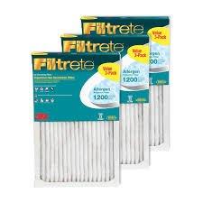 Filtrete 3 M 3 - Pack 1200ホコリ、花粉アレルゲンReductionフィルタ14 x 20 x 1 B00YUU9282