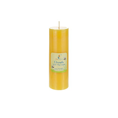 Mega Candles 1 pcs Citronella Round Pillar Candle | Hand Poured Paraffin Wax Candles 2