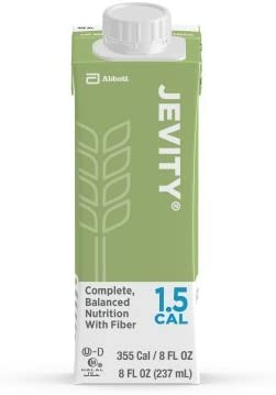Jevity 1.5 Cal High Protein Nutrition Drink with Fiber 8 Ounce Cartons 24 Case by Abbott