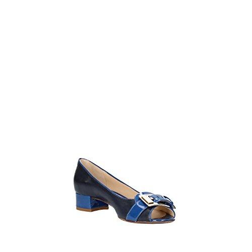 CALPIERRE Zapatos de salón mujer Azul cuero cuero de ante AG712