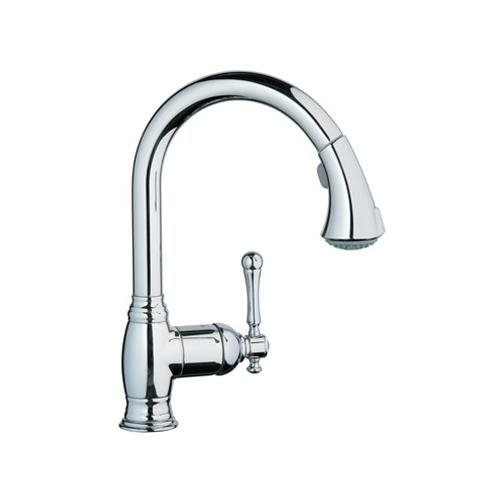 GROHE AMERICA INC 33870EN0 Bridgeford Dual Spray Pull-Out Kitchen Faucet
