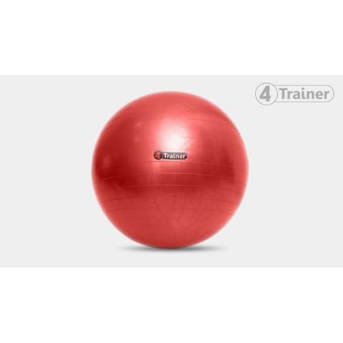 Ballon suisse 75 cm anti-éclatement 4Trainer - Travail de Gainage - Proprioception - Préparation physique - Livraison Offerte