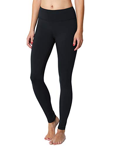 Lined Womens Pants (Baleaf Women's Fleece Lined Leggings Yoga Pants Inner Pocket Black Size L)