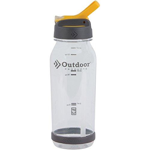 Outdoor Products 0.75-Liter Tritan Flip Top Water Bottle, Clear
